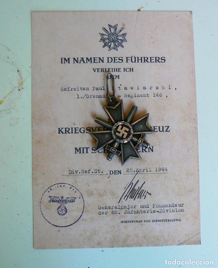 Militaria: Cruz de Caballero al Mérito con Espadas. Ritterkreuz des Kriegsverdienstkreuz. - Foto 6 - 182276143