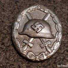 Militaria: MEDALLA NAZI HERIDO DE GUERRA. POSIBLE REPRODUCCIÓN. METAL PLATEADO. 4,5 X 3,5 CMS.. Lote 52985925