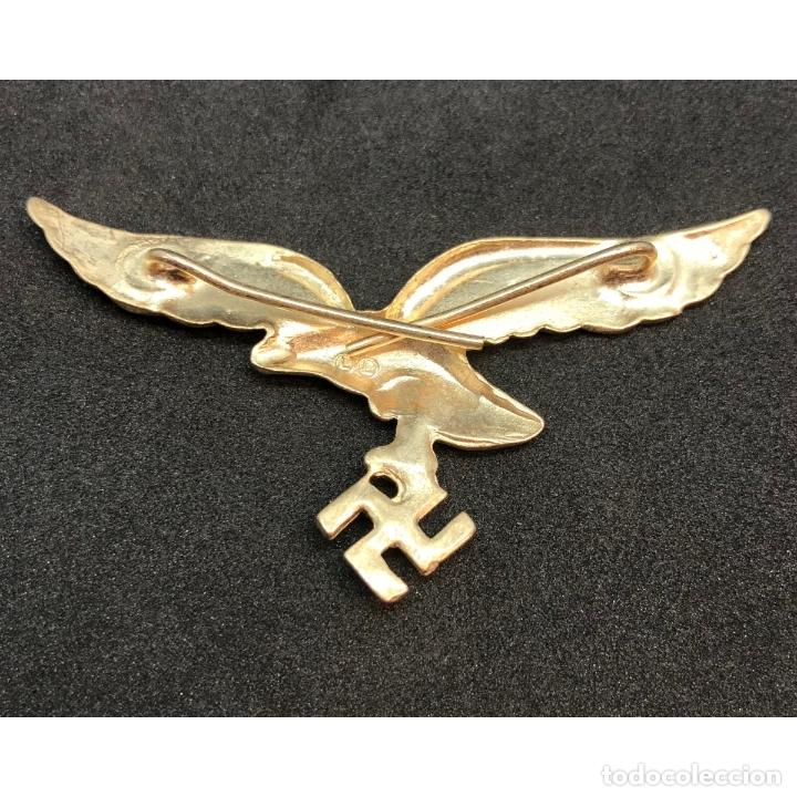 Militaria: INSIGNIA GORRA LUFTWAFFE Alemania Tercer Reich Partido Nazi Wehrmacht - Foto 2 - 182416447