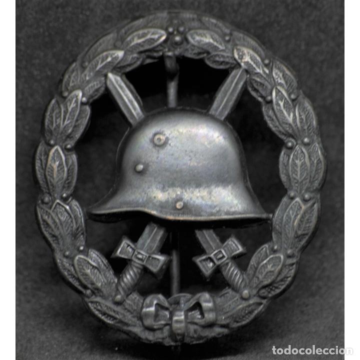 INSIGNIA HERIDO EN NEGRO WWI PRIMERA GUERRA MUNDIAL ALEMANIA IMPERIO ALEMÁN (Militar - Reproducciones y Réplicas de Medallas )