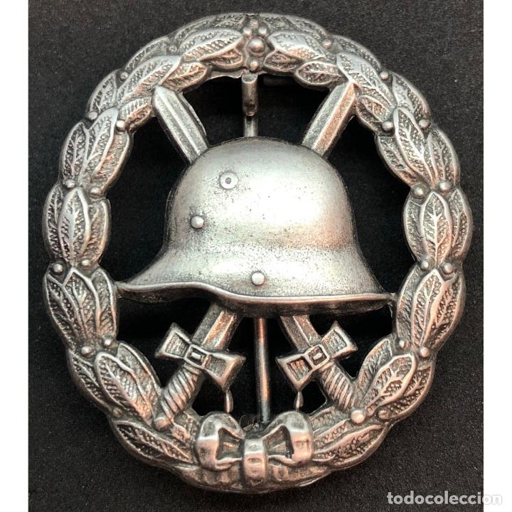 INSIGNIA HERIDO CATEGORIA PLATA WWI PRIMERA GUERRA MUNDIAL ALEMANIA IMPERIO ALEMÁN (Militar - Reproducciones y Réplicas de Medallas )