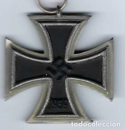 Militaria: CRUZ DE HIERRO DE SEGUNDA CLASE CON CINTA. RÉPLICA EXCELENTE - Foto 2 - 182644436