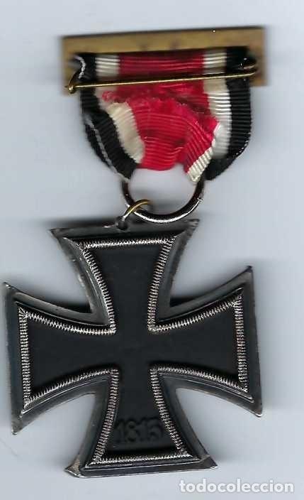 Militaria: CRUZ DE HIERRO DE SEGUNDA CLASE CON CINTA. RÉPLICA EXCELENTE - Foto 3 - 182644660