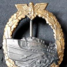 Militaria: DISTINTIVO DE LANCHAS RÁPIDAS 1ER. MODELO DE LA KRIEGSMARINE.. Lote 182515058