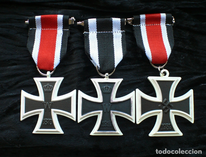 LOT 3 CRUCES DE HIERRO. EISERNEN KREUZ 2 KLASSE. 1870.1914.1939 (Militar - Reproducciones y Réplicas de Medallas )