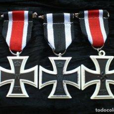 Militaria: LOT 3 CRUCES DE HIERRO. EISERNEN KREUZ 2 KLASSE. 1870.1914.1939. Lote 197756312