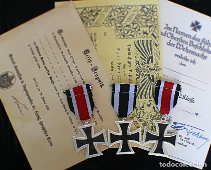 Militaria: LOT 3 cruces DE HIERRO. Eisernen Kreuz 2 Klasse. 1870.1914.1939 - Foto 2 - 197756312