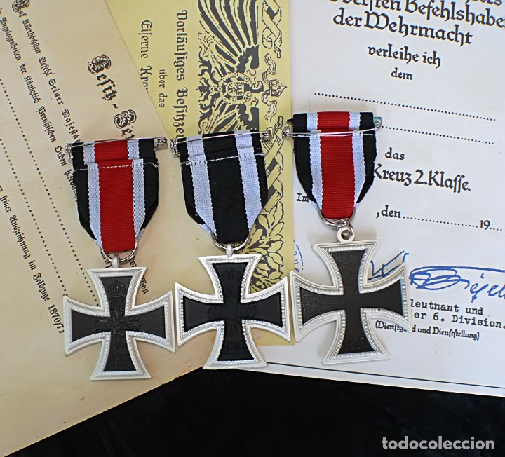 Militaria: LOT 3 cruces DE HIERRO. Eisernen Kreuz 2 Klasse. 1870.1914.1939 - Foto 4 - 197756312