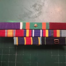 Militaria: USN. US NAVY Y USMC. PASADOR DE MEDALLAS. CORAZON PURPURA. Lote 182943695