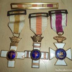 Militaria: 3 MEDALLAS MILITARES Y PASADOR A LA CONSTANCIA MILITAR Y ORDEN SAN HERMENEGILDO. Lote 182950255