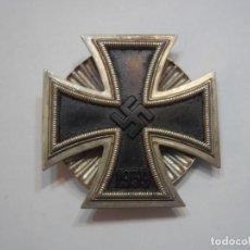 Militaria: CRUZ DE HIERRO 1 CL.1939, ALEMANIA 2 G.M. ORIGINAL, PLANA Y CON ROSCA ACANALADA TRASERA. Lote 52448667