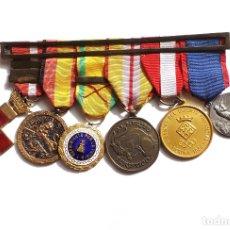 Militaria: MEDALLAS DE RAMÓN MUÑOZ GONZÁLEZ Y BERNALDO DE QUIRÓS. GUERRA CIVIL. DEPORTES GERONA. TIRO PICHÓN.. Lote 182976813