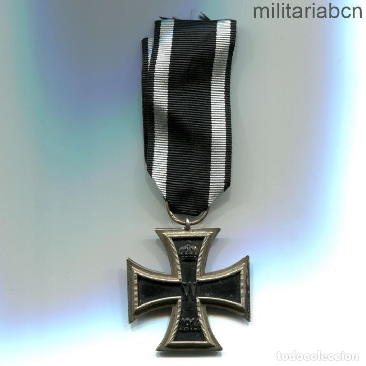 Militaria: Alemania. Cruz de Hierro de 2ª Clase, 1914. 1ª Guerra Mundial. Cinta para combatientes. - Foto 2 - 182982336