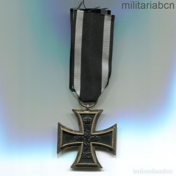 Militaria: Alemania. Cruz de Hierro de 2ª Clase, 1914. 1ª Guerra Mundial. Cinta para combatientes. - Foto 3 - 182982336
