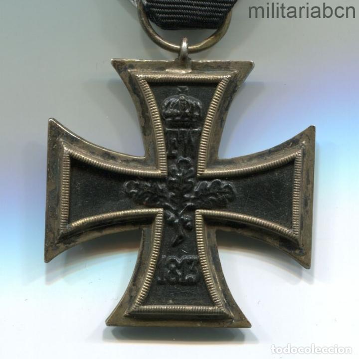 Militaria: Alemania. Cruz de Hierro de 2ª Clase, 1914. 1ª Guerra Mundial. Cinta para combatientes. - Foto 4 - 182982336