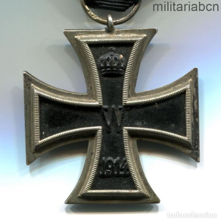 ALEMANIA. CRUZ DE HIERRO DE 2ª CLASE, 1914. 1ª GUERRA MUNDIAL. CINTA PARA COMBATIENTES. (Militar - Medallas Extranjeras Originales)