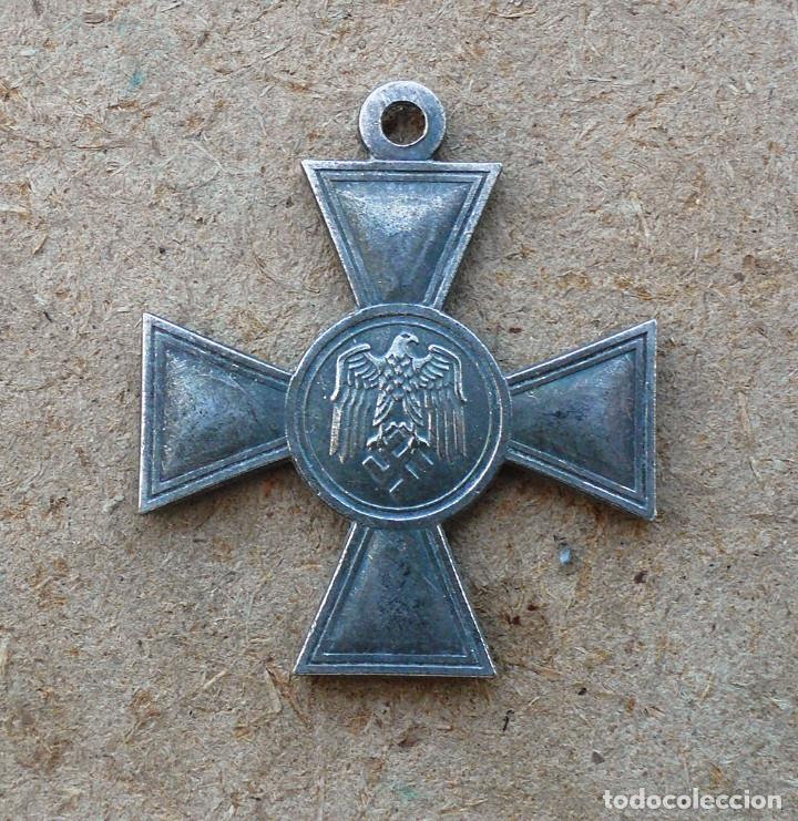 CRUZ ALEMANA PARA LA DURACIÓN DEL SERVICIO 25.TERCER REICH. (Militar - Reproducciones y Réplicas de Medallas )