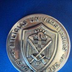 Militaria: (XJ-191107)MEDALLA MILICIAS UNIVERSITARIAS - 1942-1992 - 50 ANIVERSARIO Nº 58 - PLATA. Lote 183383455