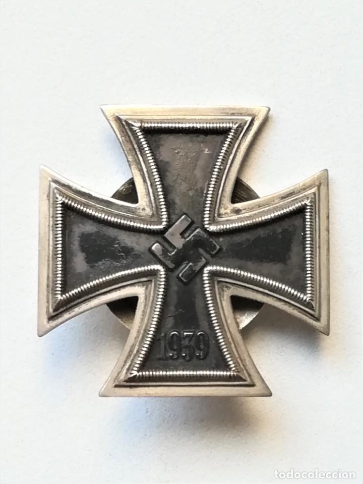 Militaria: III REICH,CRUZ DE HIERRO 1ª CLASE L/58 ORIGINAL CON CAJA LDO,ROSCA,EPOCA DIVISION AZUL - Foto 3 - 81649071