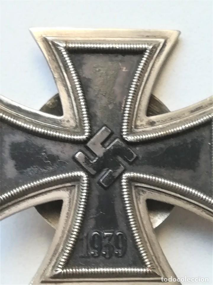 Militaria: III REICH,CRUZ DE HIERRO 1ª CLASE L/58 ORIGINAL CON CAJA LDO,ROSCA,EPOCA DIVISION AZUL - Foto 4 - 81649071