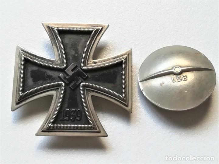Militaria: III REICH,CRUZ DE HIERRO 1ª CLASE L/58 ORIGINAL CON CAJA LDO,ROSCA,EPOCA DIVISION AZUL - Foto 2 - 81649071