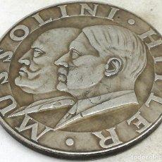 Militaria: RÉPLICA MEDALLA 1937-38. HITLER MUSSOLINI. EJE BERLÍN ROMA. ALEMANIA. PRE II GUERRA MUNDIAL. Lote 183557448