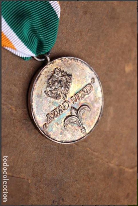 "Militaria: MEDALLA ALEMANIA II GUERRA MUNDIAL. MEDALLA INDIA ""AZAD HIND"". - Foto 4 - 183595021"