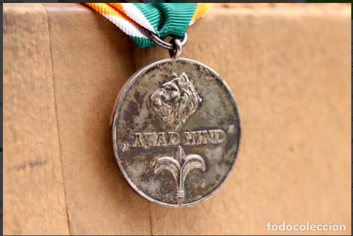 "Militaria: MEDALLA ALEMANIA II GUERRA MUNDIAL. MEDALLA INDIA ""AZAD HIND"". - Foto 5 - 183595021"