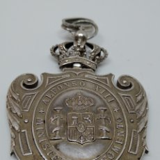 Militaria: MEDALLA DE PLATA ALFONSO XIII MINISTERIO DE FOMENTO. Lote 183623027