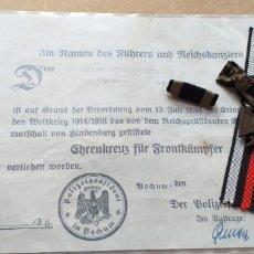 Militaria: MEDALLA ALEMANA. CRUZ DE HONOR HINDENBURG.. Lote 183916228