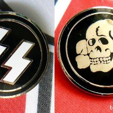 Militaria: 2 INSIGNIAS-PIN WAFFEN SS TOTENKOPF . TERCER REICH. Lote 207911500