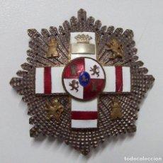 Militaria: PLACA MERITO MILITAR BLANCA PENSIONADA EPOCA FRANCO. Lote 184177731