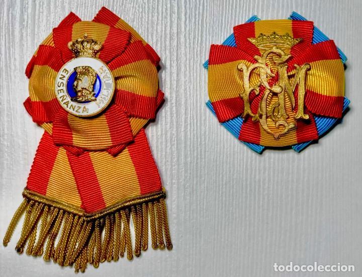 DISTINTIVO PROFESORADO DE LA ESCUELA DE ESTADO MAYOR DEL EJÉRCITO. ÉPOCA FRANCO. (Militar - Medallas Españolas Originales )