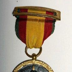 Militaria: MEDALLA DE LA CAMPAÑA DE LA GUERRA CIVIL. CINTA VERDE RETAGUARDIA. FABRICACIÓN INDUSTRIAS EGAÑA.. Lote 184346468