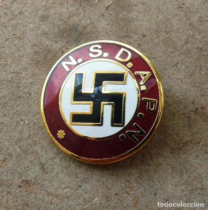 Militaria: NSDAPN .TERCER REICH.insignia de miembro del partido - Foto 2 - 218531868