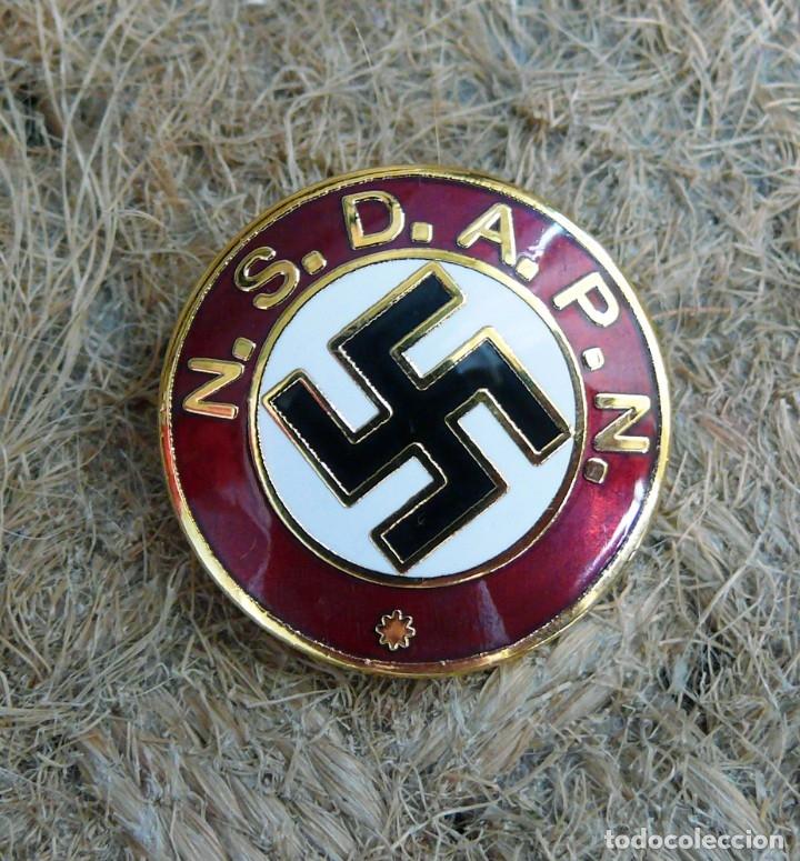 Militaria: NSDAPN .TERCER REICH.insignia de miembro del partido - Foto 4 - 218531868