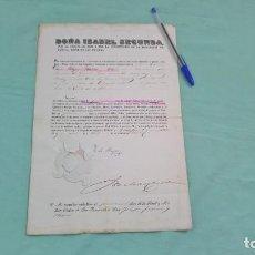 Militaria: CRUZ DE PRIMERA DE LA REAL Y MILITAR ORDEN DE SAN FERNANDO.LAUREADA FERNANDO.1860.CONCESION ,DIPLOMA. Lote 184421135