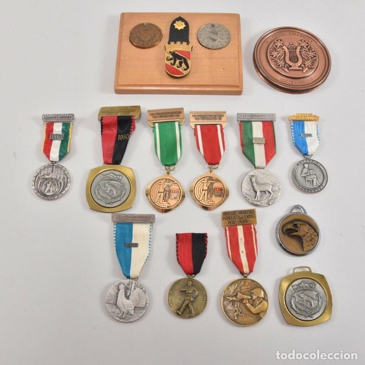 MAGNIFICA COLECCIÓN DE MEDALLAS ALEMANAS DE BOMBEROS (Militar - Medallas Extranjeras Originales)