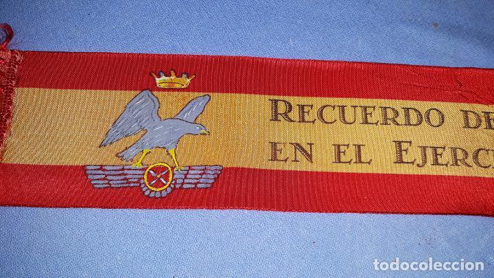 Militaria: CINTA DE RECUERDO DE INGRESO EN EL EJERCITO DEL AIRE AÑOS 60 ORIGINAL - Foto 2 - 184690036
