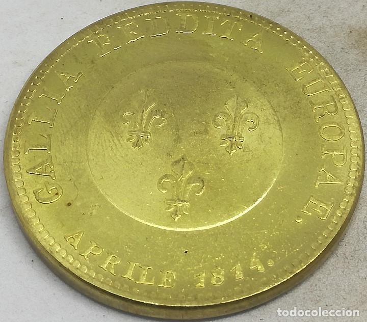 RÉPLICA MEDALLA 1814. PARÍS, GUERRAS NAPOLEÓNICAS. RUSIA IMPERIAL. ZAR ALEJANDRO I (Militar - Reproducciones y Réplicas de Medallas )