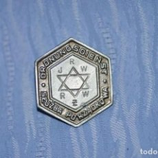 Militaria: JEWISH GHETTO POLICE BADGE. Lote 184910657