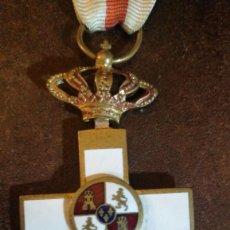 Militaria: CRUZ MÉRITO MILITAR DISTINTIVO BLANCO ALFONSO XIII, TAMAÑO NORMAL. Lote 185478370