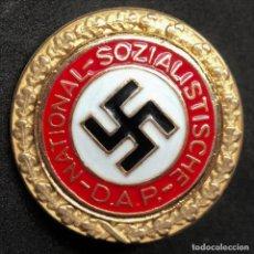 Militaria: INSIGNIA PIN DEL NSDAP CATEGORIA ORO ALEMANIA PARTIDO NAZI TERCER REICH. Lote 186326287