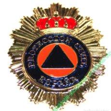 Militaria: CHAPA CARTERA PROTECCION CIVIL CHAPA PARA CARTERA PROTECCION CIVIL MATERIAL: ZAMAK 09187. Lote 186403245
