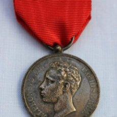 Militaria: MEDALLA MAYORIA EDAD DE ALFONSO XIII -1902 - PLATA. Lote 186436683