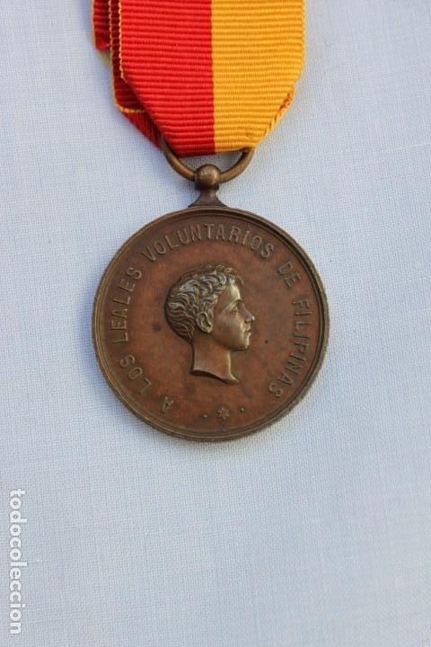MEDALLA CAMPAÑA DE LUZON - VOLUNTARIOS DE FILIPINAS 1896-97 (Militar - Medallas Españolas Originales )
