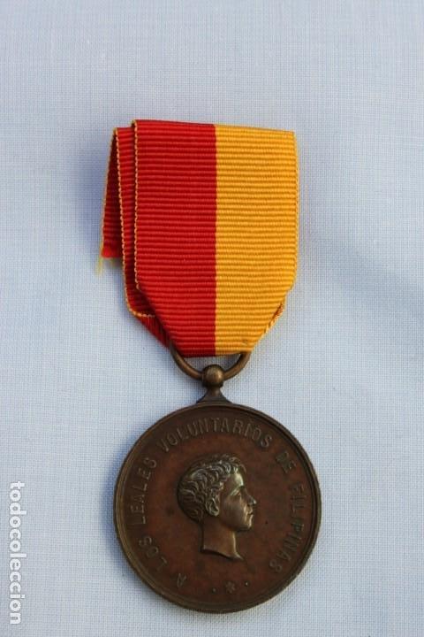 Militaria: MEDALLA CAMPAÑA DE LUZON - VOLUNTARIOS DE FILIPINAS 1896-97 - Foto 2 - 186438333