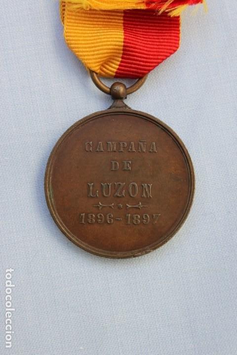 Militaria: MEDALLA CAMPAÑA DE LUZON - VOLUNTARIOS DE FILIPINAS 1896-97 - Foto 3 - 186438333