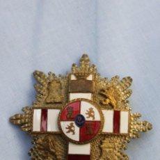 Militaria: PLACA MERITO MILITAR BLANCA PENSIONADA EPOCA FRANCO. Lote 186440477