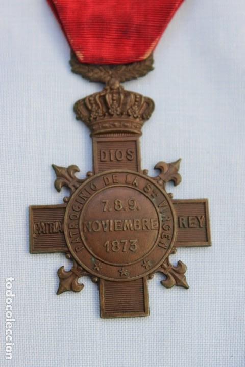 MEDALLA CARLISTA MONTEJURRA 1873 (Militar - Medallas Españolas Originales )